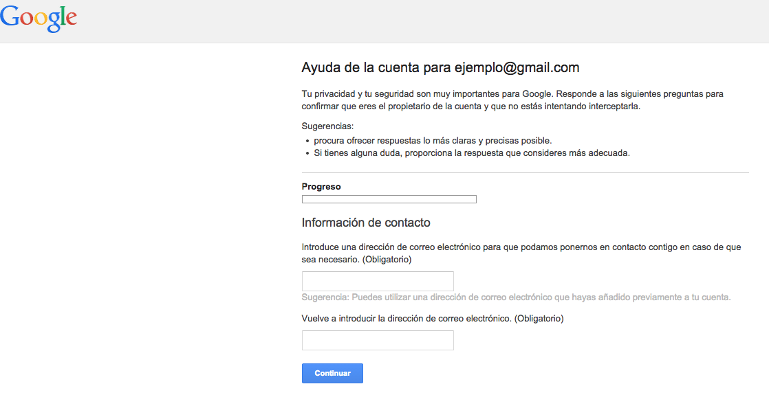 modificar contraseña gmail