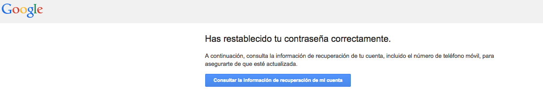 reestablecer contraseña gmail